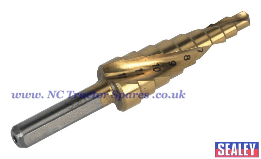Step Drill Spiral Flute Titanium Coated 4-12mm